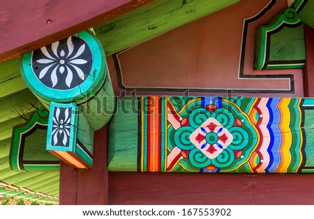 Roof eave decoration - stock photo