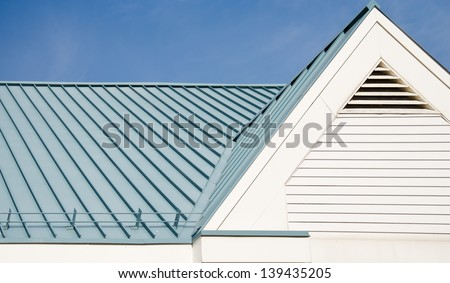 Roof from corrugated metal