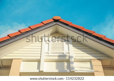 roof gable - stock photo