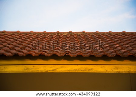 Roof in Thailand