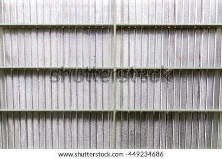 Roof insulation for heat protection - stock photo