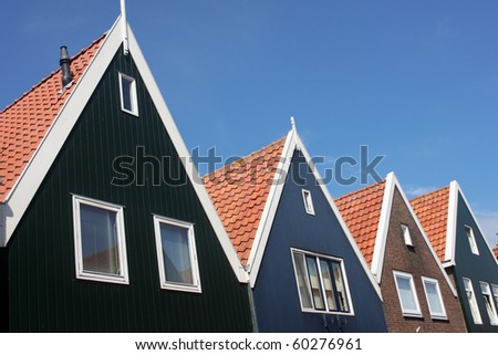 Roof-lines of Typical Dutch Residences