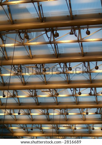 Roof of a Berlin shopping mall - stock photo
