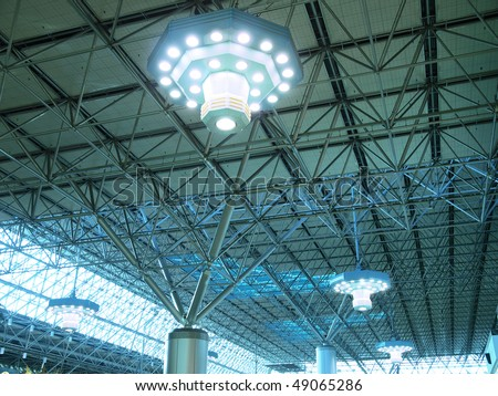 Roof of modern building - stock photo