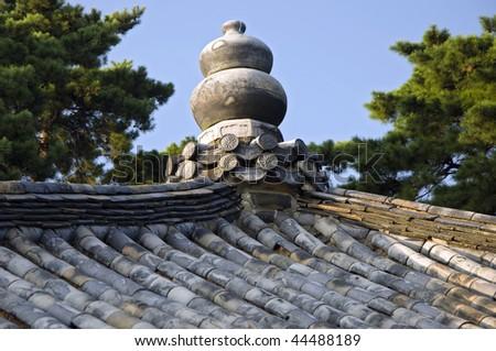 Roof of the Bulguksa Temple, South Korea - stock photo