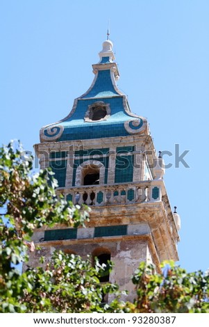 Roof of the Cartuja of Valldemosa, Mallorca, Spain - stock photo