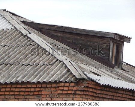 roof of the house, an old attic. - stock photo