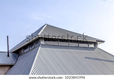 Roof of the house from the metal profile