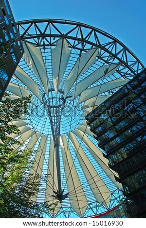 Roof of the Sony Center on Potsdam Square