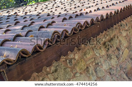 roof old tiles