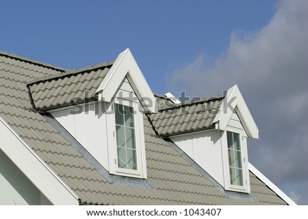 roof on house-american style - stock photo