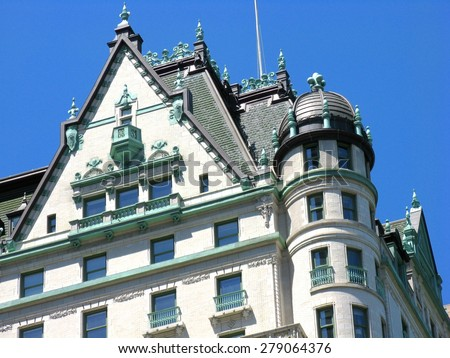Roof on the Plaza Hotel, New York City - stock photo