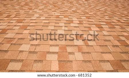 Roof shingles pattern - stock photo
