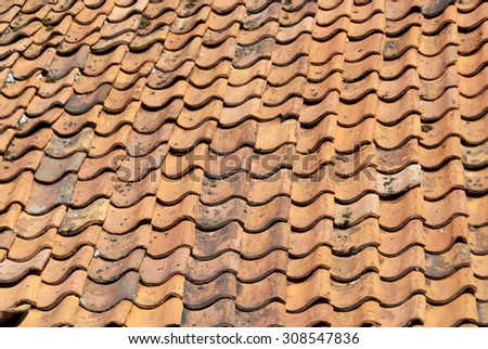 Roof Tile Texture - stock photo