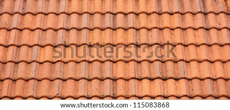 Roof tiles background texture in regular rows