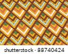 Roof tiles on the Matthias church in Budapest - stock photo