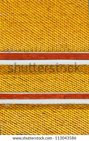Roof Tiles Texture of the Buddhist temple - stock photo