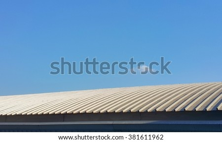 roof top and clear blue sky in background