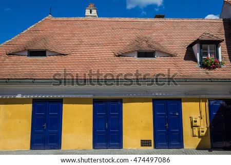 roof with eyes in Sibiu city in Romania