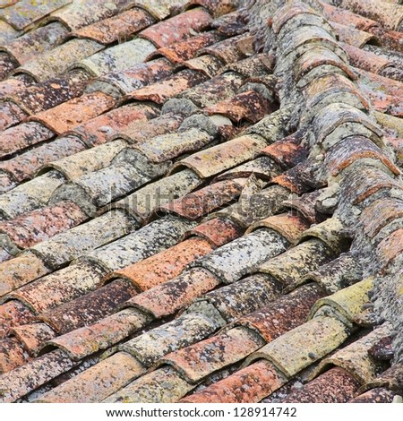 roofing tile - stock photo
