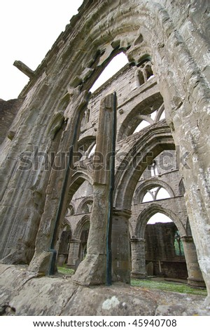 Roofless cathedral in Elgin, Scotland, UK - stock photo