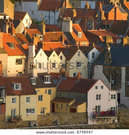 Roofs at Whitby, North Yorkshire, England, UK - stock photo