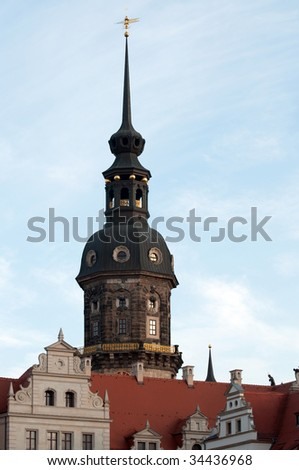 roofs of Dresden in Germany