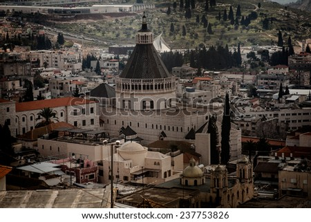 Roofs of Old City in Nazareth, Israel  - stock photo