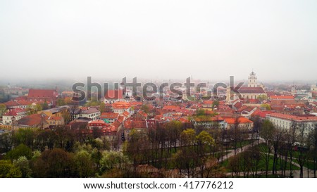 Roofs of old Vilnius