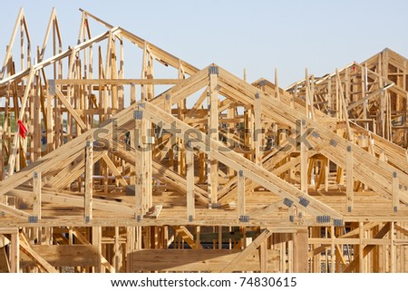 rooftop framework - stock photo