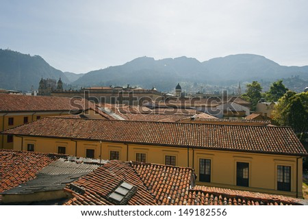 rooftops of Bogota, Colombia, South America
