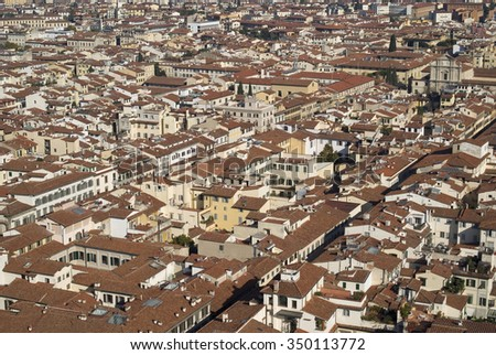 Rooftops of Florence - stock photo
