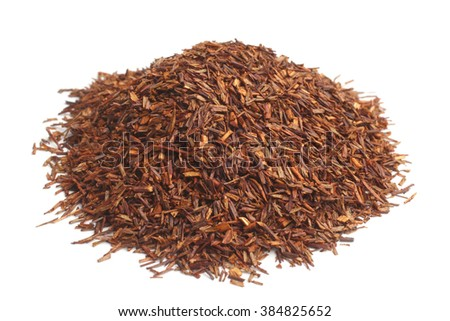 Rooibos on white background - stock photo