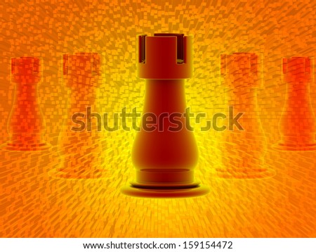 rook isolated in color background - stock photo
