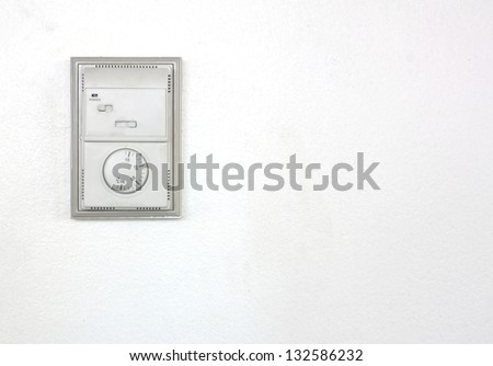 Room air conditioner thermostat. - stock photo