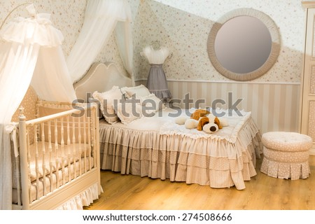 Room for parents and children - stock photo