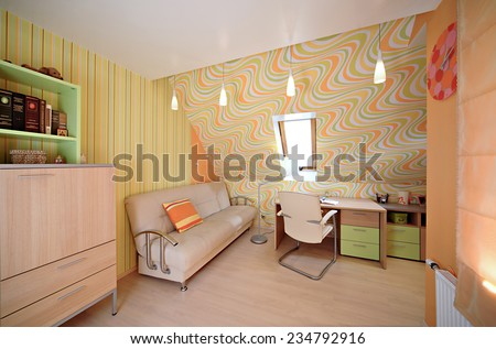 Room for schooler. Interior in the modern house.  - stock photo