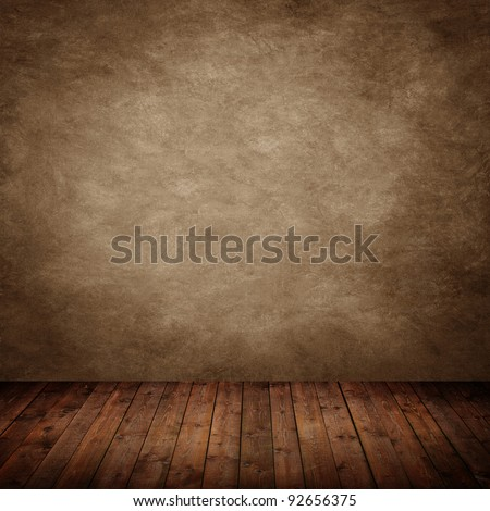 room interior vintage with brown textured wall - stock photo