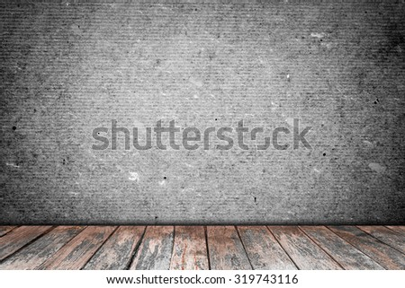 room interior vintage with  wood floor background - stock photo