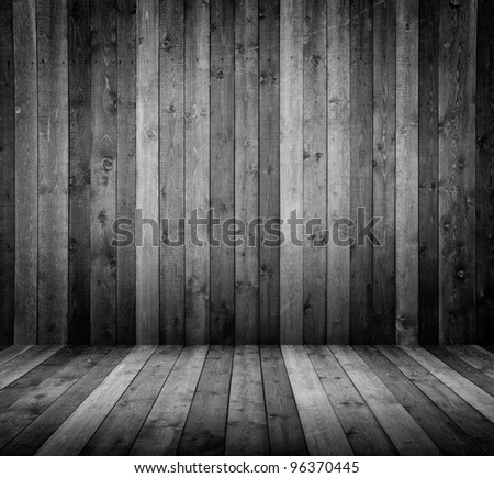 room interior vintage with wooden tiles - stock photo