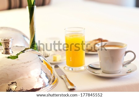 Room service breakfast - stock photo