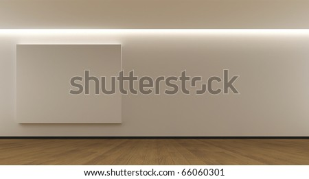Room whit a empty panel - stock photo