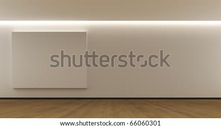 Room whit a empty panel - stock photo