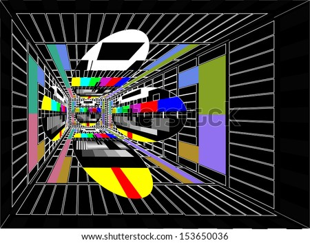 room with tv - stock photo