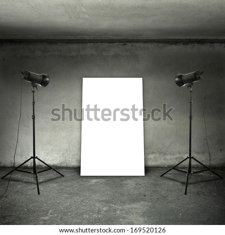 room with two lamps and white space  - stock photo