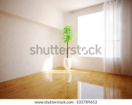 room with window - stock photo