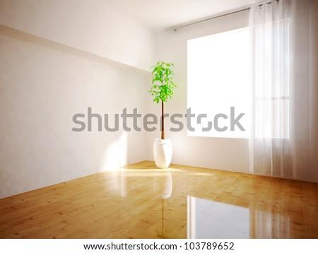 room with window - stock photo