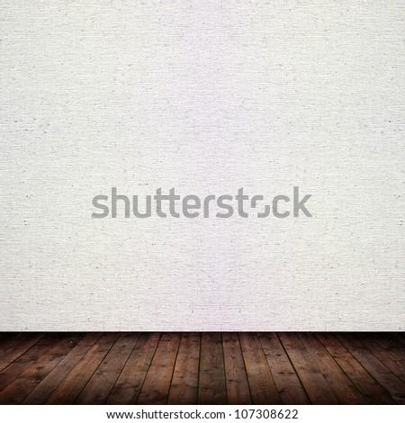 room with wooden floor - stock photo