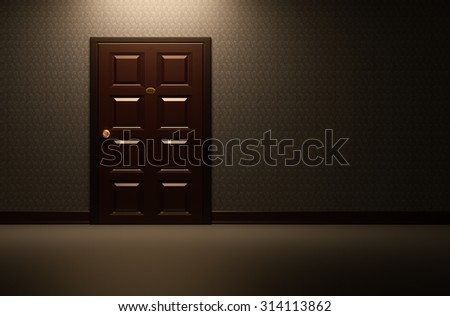 Rooms at Vintage background 3d rendering. - stock photo