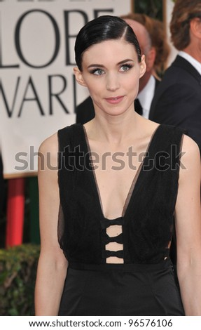 Rooney Mara at the 69th Golden Globe Awards at the Beverly Hilton Hotel. January 15, 2012  Beverly Hills, CA Picture: Paul Smith / Featureflash - stock photo